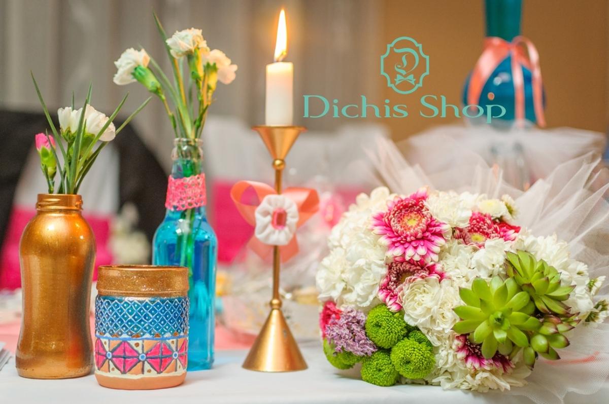Decorațiuni nuntă - fucsia și liliac