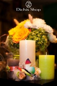 Decor nunta - lumanari masa mirilor